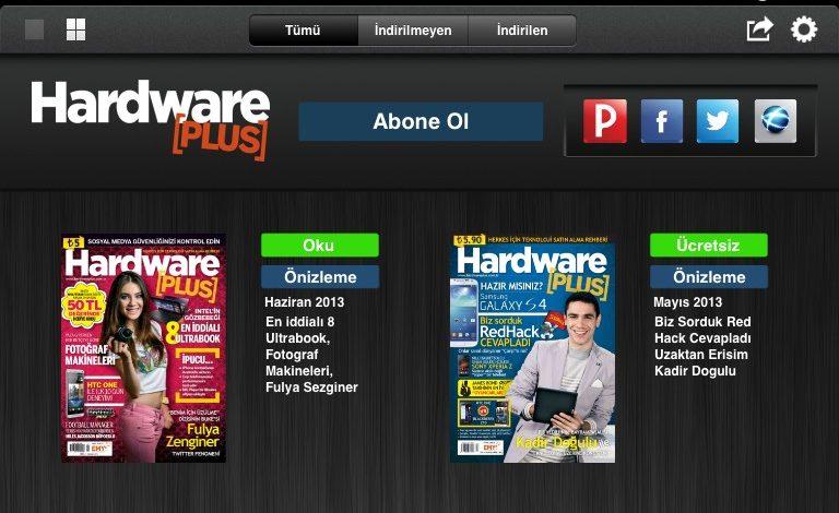 Hardware Plus, iPad Gazete Bayisi'nde yerini aldı