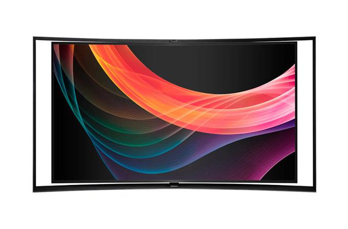 Samsung'dan dünyanın ilk kavisli UHD TV'si