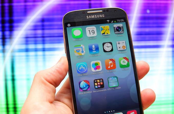 Android cihazınızı iOS 7 görünümüyle kullanın