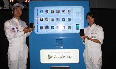 Tokyo'da Android oyunu satan makineler