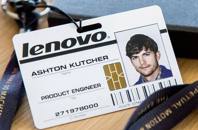 Lenovo'nun yeni reklam yüzü Ashton Kutcher