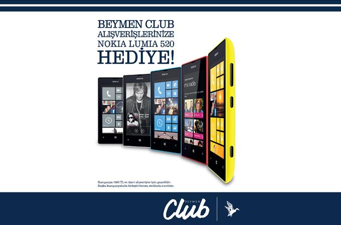Beymen Club'tan alışveriş yapan, Nokia Lumia 520 kazanıyor