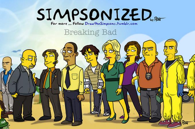 Galeri: Breaking Bad karakterleri The Simpsons'ta olsaydı