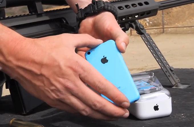 iPhone 5C'nin keskin nişancı tüfeğiyle imtihanı