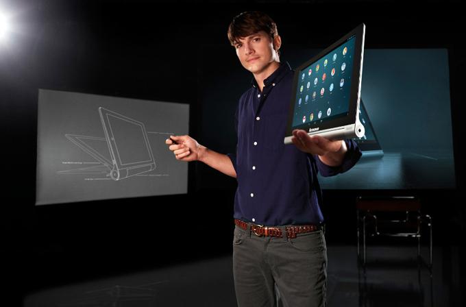 Lenovo'nun 18 saat giden tabletini Ashton Kutcher tanıttı