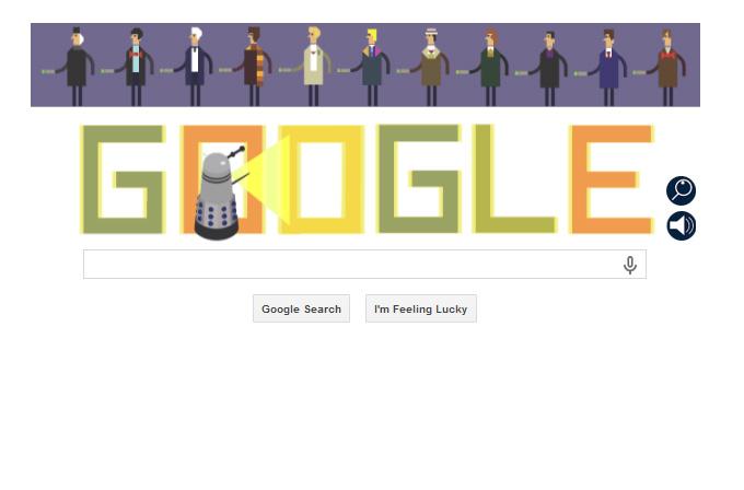 Google bugün Doctor Who diyor