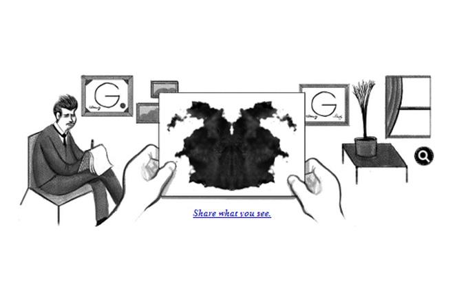 Google bugün Rorschach testi yapıyor