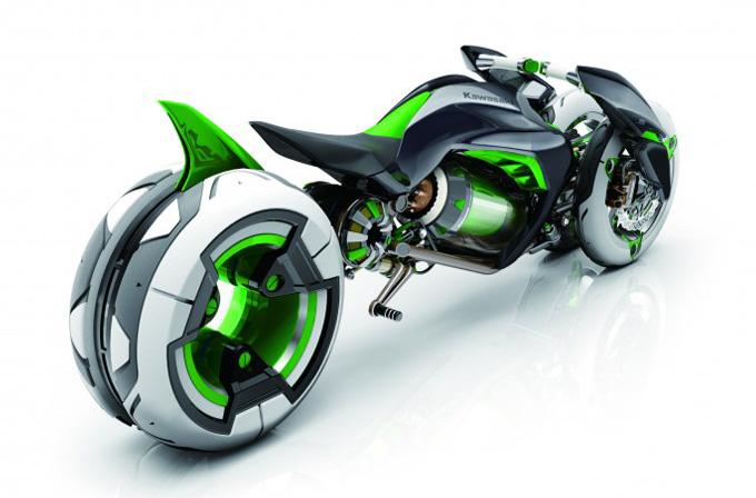 Tron'dan kaçmış gibi görünen motosiklet: Kawasaki J
