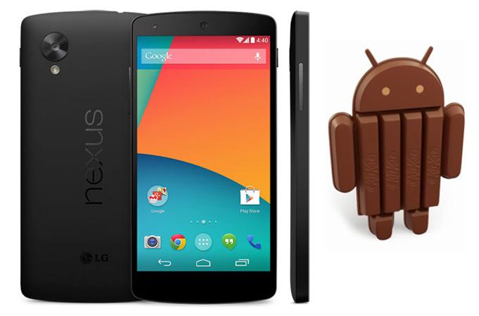 LG Nexus 5 ve Android 4.4 KitKat resmi olarak tanıtıldı