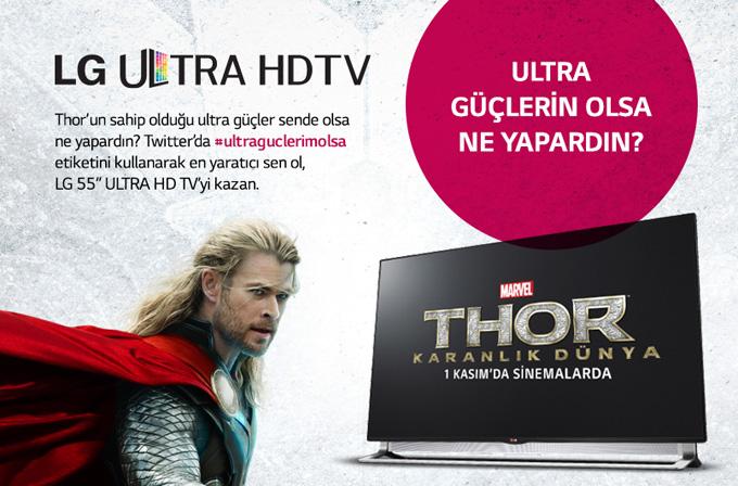 Thor Karanlık Dünya filmine özel LG Ultra HD TV ödüllü yarışma
