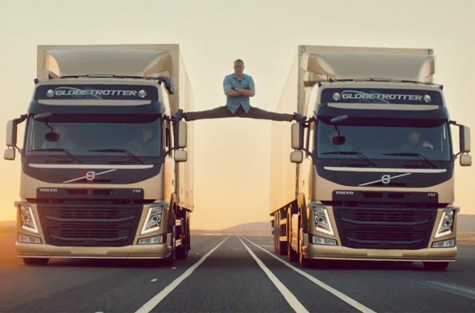 Volvo, yeni teknoloji reklamında Van Damme'a bacak açtırdı