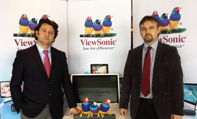 ViewSonic Ülke Müdürü Hasan Koçyiğit ve ViewSonic Ürün Müdürü Önder Şengür