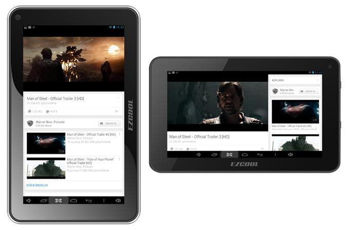 Ezcool'dan dikkat çekici üç yeni Android tablet