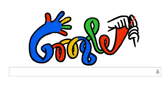 Google bugün örgü örüyor