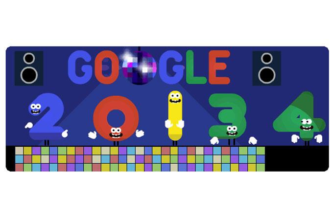 Google yeni yılınızı kutluyor