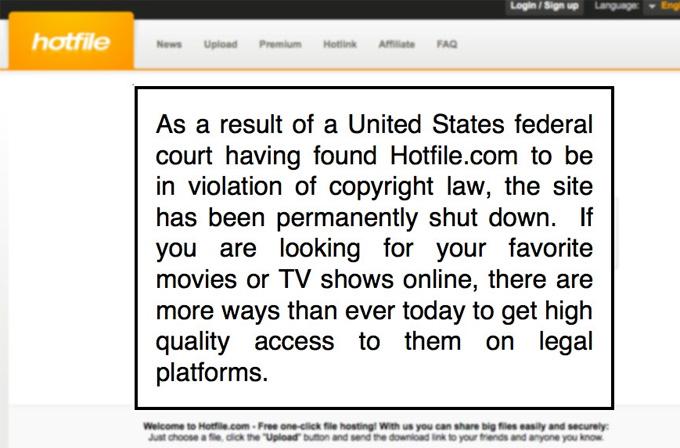 Hotfile kapandı! hotfile.com hotfile kapandı hotfile closed hotfile  zui slider internet haber haber