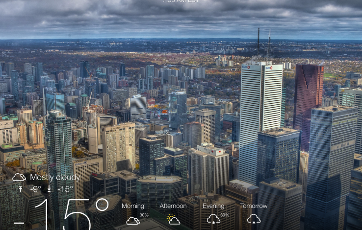 Yahoo Weather iPad'e geldi