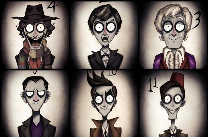 Doctor Who karakterlerini Tim Burton tasarlasaydı