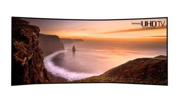 Samsung'tan 105 inç kavisli TV!