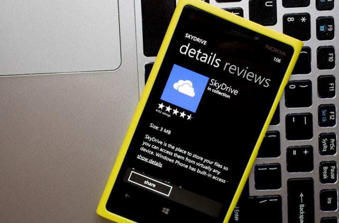 Windows Phone kullanıcılarına 1 yıllık 20GB SkyDrive hediye!