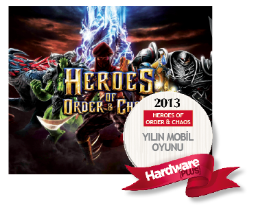 Hardwareplus 2013 un Mobil oyunu Heroes of order chaos