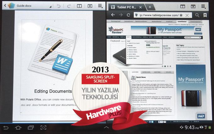 2013'ün en iyi yazılım teknolojisi: Samsung Split-Screen