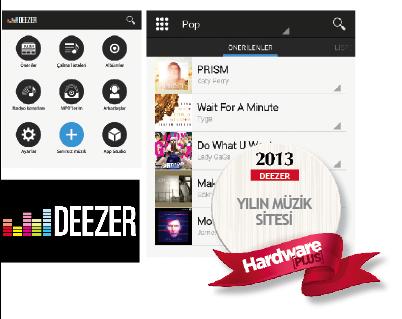 Hardwareplus 2013 un müzik sitesi Deezer