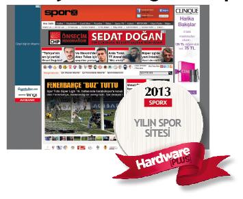 2013'ün en iyi spor sitesi : Sporx
