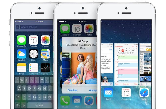 iOS 7 kullanımı %80'i buldu