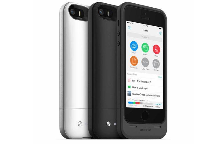 iPhone'un hem bataryasını hem de dahili depolamasını arttıran kılıf: Mophie Space Pack