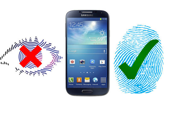 Samsung Galaxy S5'te iris tanıma sistemi yerine parmak izi okuyucusu olacak