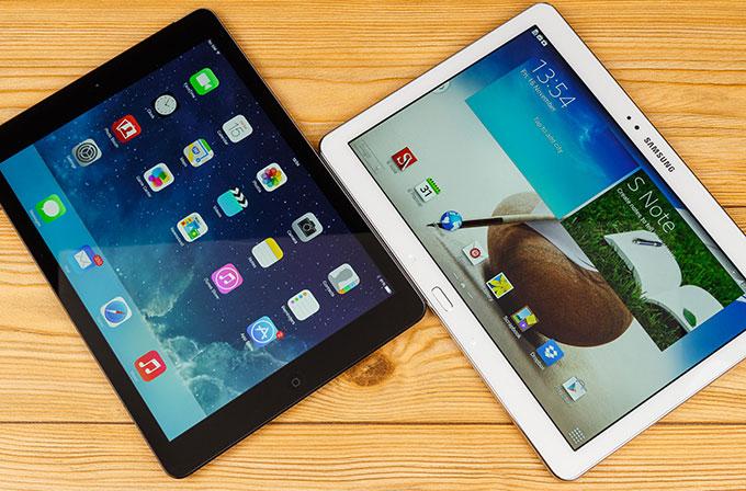 iPad Air'ın hızı Galaxy Note 10.1'den daha yavaş