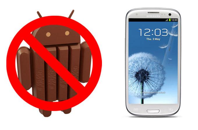 Galaxy S3'e Android 4.4 yok!