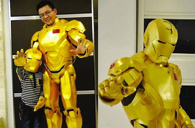 Oğlunun doğum günü için Iron  Man zırhı yaptı