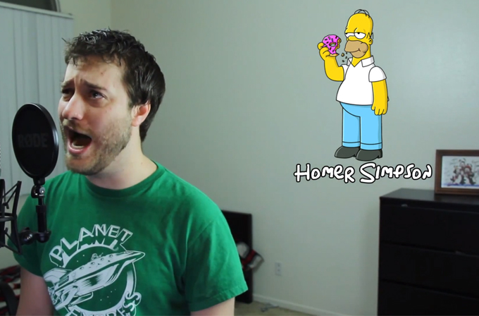 33 Simpsons karakterini seslendiren adam