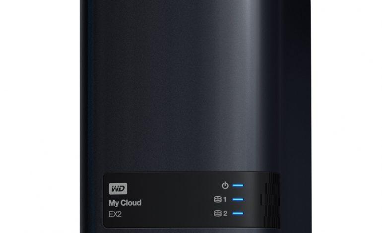 WD'den iki yuvalı ağ bağlantılı depolama (NAS) sistemi: My Cloud® EX2