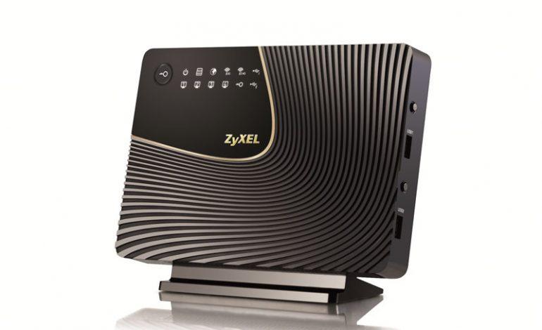ZyXEL'den NBG6716 Eşzamanlı Dual bant Kablosuz AC1750 Medya Router'ı