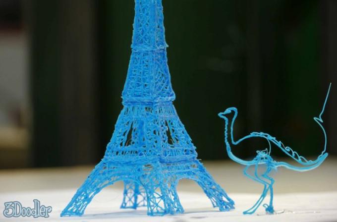 3D Doodler ile 3 boyutlu çizimler yapılabiliyor