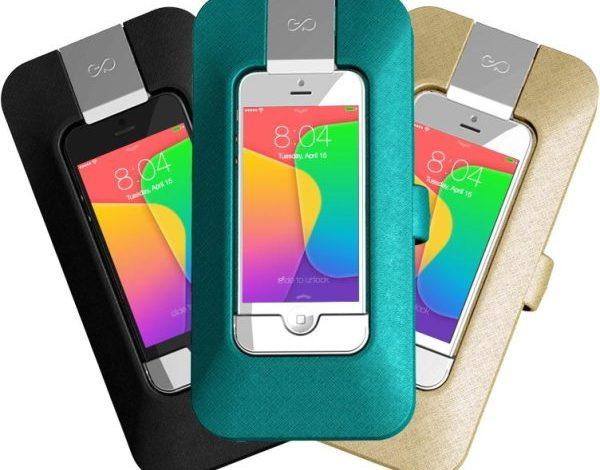 Akıllı telefonu kablosuz şarj eden cüzdan