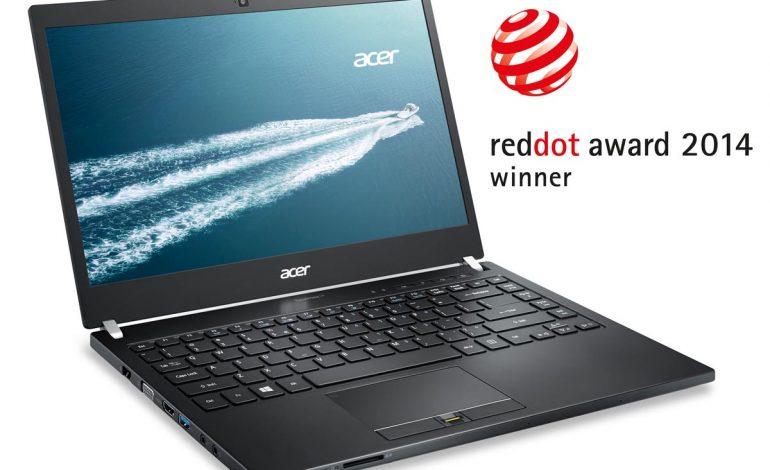 Acer TravelMate P645 Dizüstü Bilgisayar Red Dot Tasarım Ödülü Kazandı