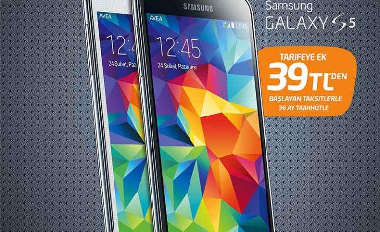 Avealılar, Samsung Galaxy S5'e  39 TL'den başlayan taksitlerle sahip oluyor