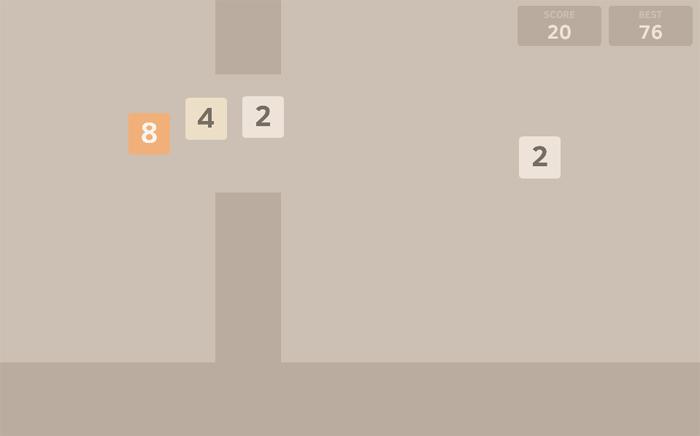 İki oyunun klonu birden: Flappy48!