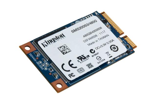 Kingston'dan 480 GB'lık mSATA SSD