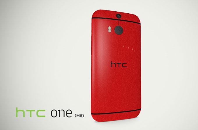 Kırmızı HTC One M8'i 3D olarak görün