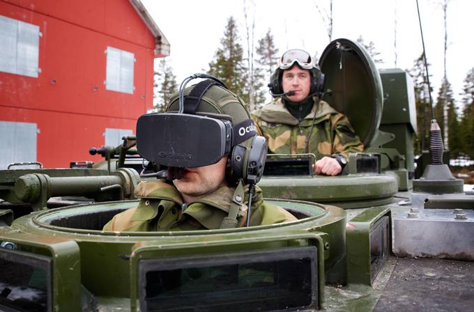Norveç ordusu, Oculust Rift'i tanklarda test etmeye başladı