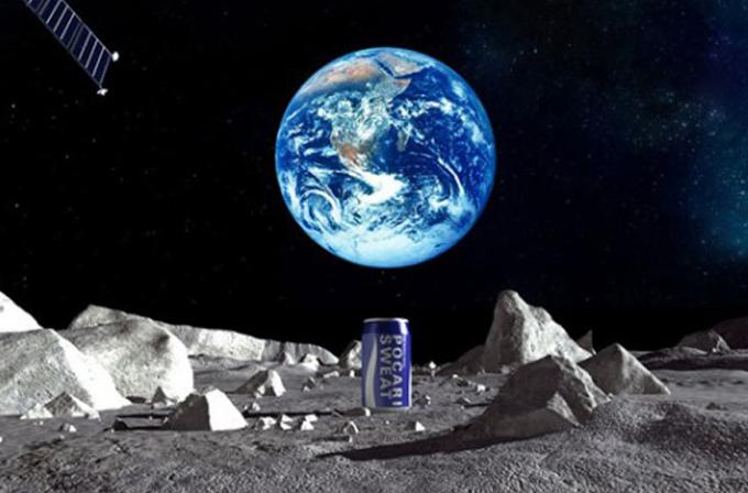 Video: Japon spor içeceği Ay'daki ilk reklam olacak