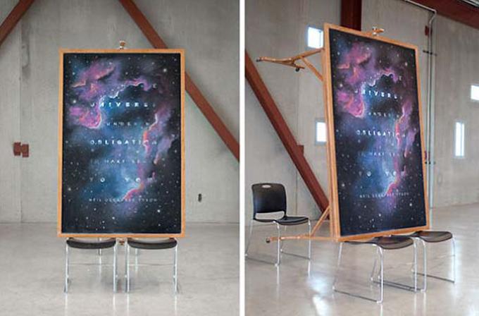 Galeri: 2 gizemli öğrencinin tebeşirle kara tahtaya yaptığı çizimler