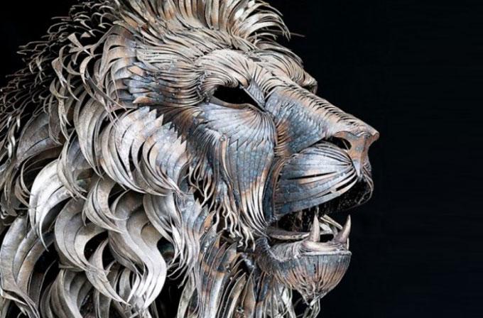 Türk sanatçıdan harika aslan çalışması