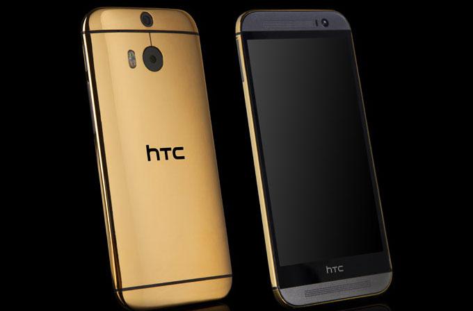 24 ayar HTC One (M8) satışta