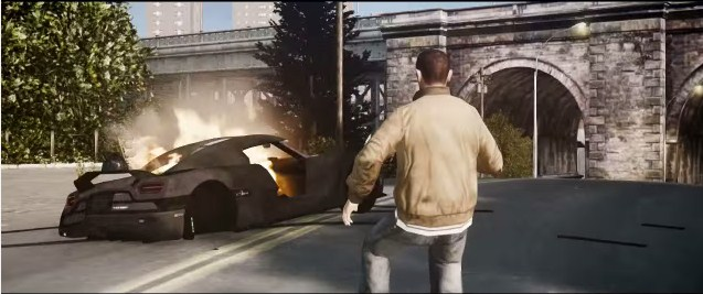Need For Speed filminin fragmanını GTA 4 ile yeniden çektiler